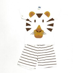 Pijama Cute Tiger Brilha No Escuro