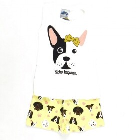 Pijama Brilha No Escuro Dog Dude Creme
