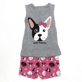 Pijama Brilha No Escuro Dog Dude Cinza