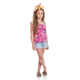Blusa Manga Unica Jungle Rosa - Costão