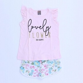 Conjunto Lovely Flower Rosa