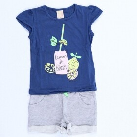 Conjunto Lemon and Blackberry Marinho