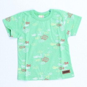 Camiseta Fish Bubble Verde