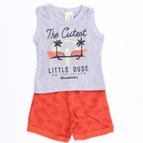 Conjunto Little Dude Cinza