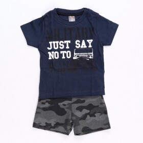 Conjunto No To War Marinho - Mister Kids