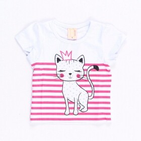Blusinha Queen Cat Branca