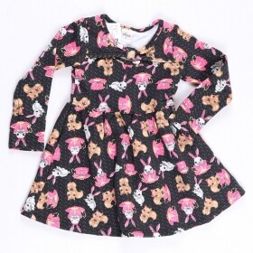 Vestido Moletom Tea Bunny and Fox Preto - Elian
