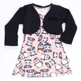 Vestido Moletom Pingu and Bear Rosa - Elian