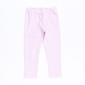 Legging Cotton Xadrez Rosa - ByGus