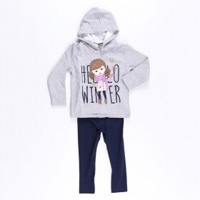 Conjunto Hello Winter Cinza - Mister Kids