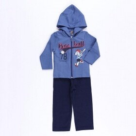 Conjunto Moletom Baseball League Azul - Mister Kids