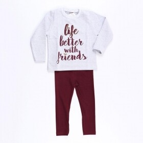 Conjunto Better With Friends Cinza - Mister Kids