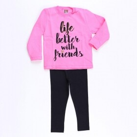 Conjunto Better With Friends Rosa - Mister Kids