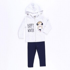 Conjunto Happy Winter Cinza - Mister Kids
