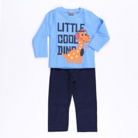 Conjunto Little Cool Dino Azul - Mister Kids