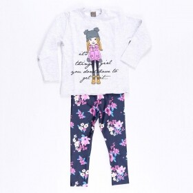 Conjunto Girl Things Cinza - Mister Kids