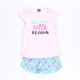 Conjunto Life With Ice Cream Rosa - Mister Kids