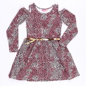 Vestido Animal Print Fashion Rosa - Mr Kids