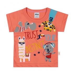 Camiseta Trust your Instinct Laranja - Elian