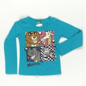 Blusa Azul Personagens do Madagascar - Elian