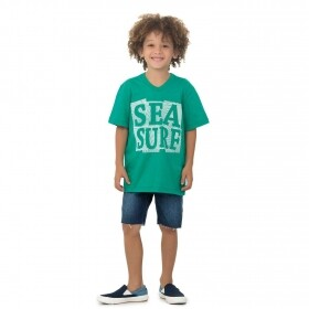 Camiseta Verde Sea Surf