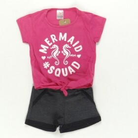 Conjunto Mermaid Squad Pink - Costão