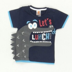 Camiseta Lets do Lunch Azul Marinho