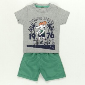 Conjunto Summer Sports Cinza - Mister Kids