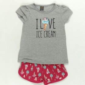 Conjunto Love Ice Cream Cinza