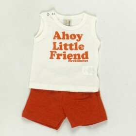 Conjunto Little Friend Estampa no Bumbum Creme - Hrradinhos