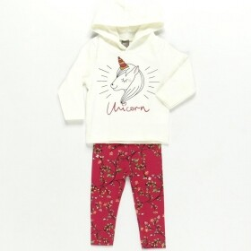 Conjunto Unicorn and Flowers Pink