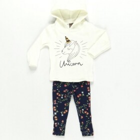 Conjunto Unicorn and Flowers Marinho