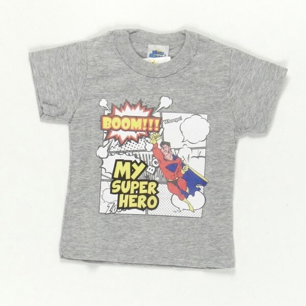 Camiseta Super Hero Cinza