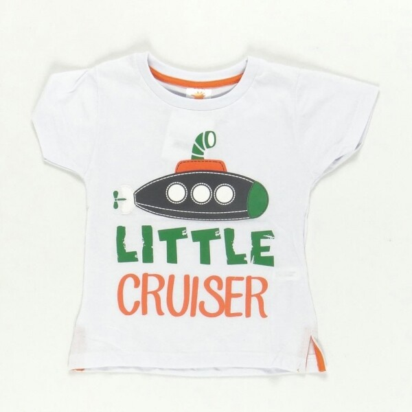 Camiseta Little Cruiser Branca